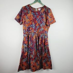 LulaRoe Unicorn Amelia Vtg Floral Pocket Dress 3XL